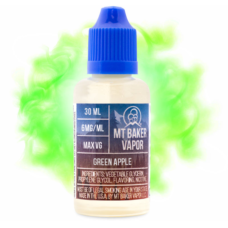 Mt Baker Vapor Green Apple Vape Juice Choice Of Blends 30ml