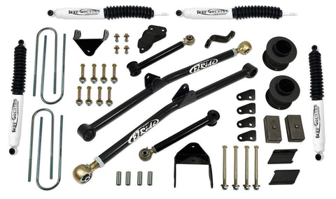 4.5 Inch Long Arm Lift Kit 03-07 Dodge Ram 2500/3500 w/ SX8000 Shocks Fits Vehicles Built June 30 2007 and Earlier Tuff Country