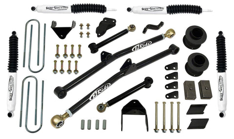 6 Inch Long Arm Lift Kit 03-07 Dodge Ram 2500/3500 w/ SX8000 Shocks Fits Vehicles Built June 31 2007 and Earlier Tuff Country