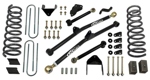 6 Inch Long Arm Lift Kit 09-13 Dodge Ram 2500 09-12 Dodge Ram 3500 with Coil Springs Tuff Country