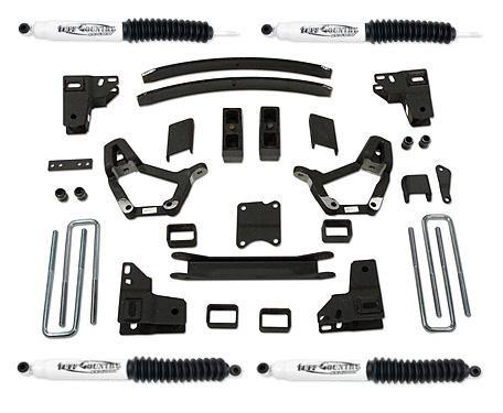4 Inch Lift Kit 86-95 Toyota Truck 86-89 Toyota 4Runner w/ SX6000 Shocks Fits Models with 2.5 Inch wide Rear u-bolts Tuff Country