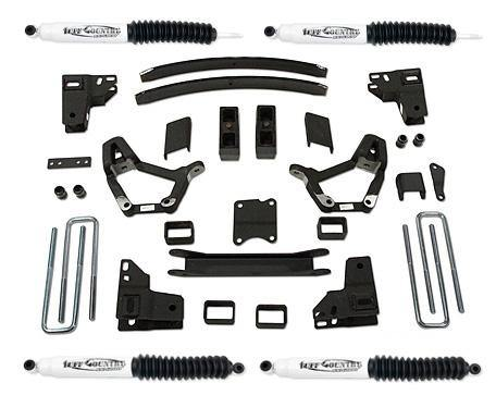 4 Inch Lift Kit 86-95 Toyota Truck 86-89 Toyota 4Runner w/ SX6000 Shocks Fits Models with 3.75 Inch wide Rear u-bolts Tuff Country