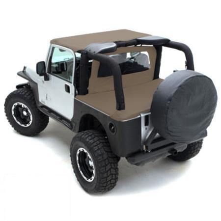 Tonneau Cover For OEM Soft Top W/Channel Mount 97-06 Wrangler TJ Not LJ Models Denim Spice Smittybilt - Get Lift Kits - getliftkits.com - Smittybilt - 761017-SMB, Smittybilt, Tonneau Covers - Tonneau Covers
