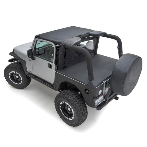Tonneau Cover For OEM Soft Top W/Channel Mount 97-06 Wrangler TJ Not LJ Models Black Diamond Smittybilt - Get Lift Kits - getliftkits.com - Smittybilt - 761035-SMB, Smittybilt, Tonneau Covers - Tonneau Covers