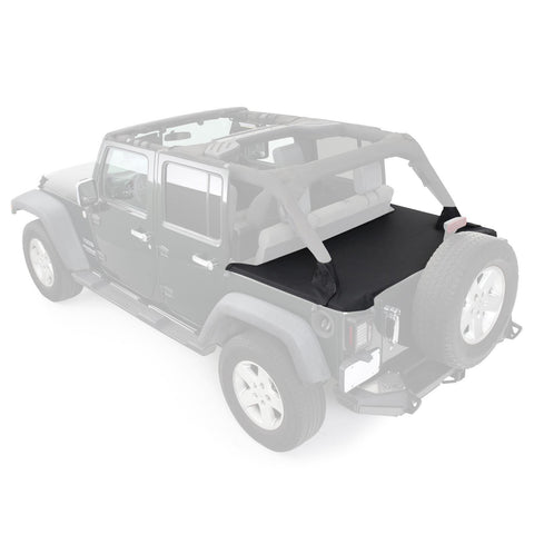 Tonneau Cover For OEM Soft Top W/Channel Mount 07-18 Wrangler JK 4DR Black Diamond Smittybilt - Get Lift Kits - getliftkits.com - Smittybilt - 761335-SMB, Smittybilt, Tonneau Covers - Tonneau Covers