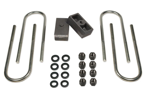 1.5 Inch Rear Block & U-Bolt Kit 73-87 Chevy Truck/GMC Truck/73-91 Suburban/Tahoe/Jimmy 1/2 Ton 4WD Tuff Country