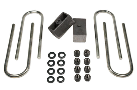 2 Inch Rear Block & U-Bolt Kit 73-87 Chevy Truck/GMC Truck/73-91 Suburban/Tahoe/Jimmy 1/2 Ton 4WD Tuff Country