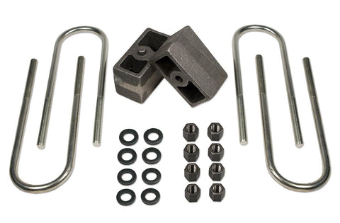 3 Inch Rear Block & U-Bolt Kit73-87 Chevy Truck/GMC Truck/73-91 Suburban/Tahoe/Jimmy 1/2 Ton 4WD Tuff Country