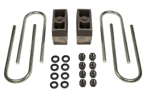 4 Inch Rear Block & U-Bolt Kit 73-87 Chevy Truck/GMC Truck/73-91 Suburban/Tahoe/Jimmy 1/2 Ton 4WD Tuff Country