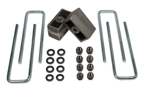 3 Inch Rear Block & U-Bolt Kit 86-95 Toyota Truck 4WD 86-89 Toyota 4Runner w/ 3.75 Inch Rear Axle Tuff Country