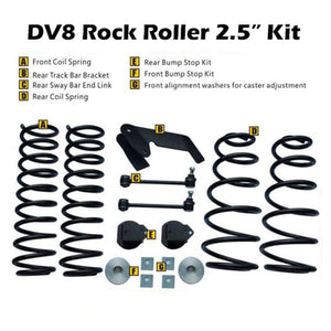 DV8 Offroad Jeep JK 2.5 Inch Lift Kit Rock Roller No Shocks RR25JK-01 DV8 Suspension lift kit 349.99 Get Lift Kits
