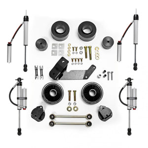 Rubicon 2.5 Inch Spacer Lift Kit with Monotube Reservoir Shocks 07-18  JK 2 and 4 Door  RE7133MR