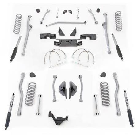 Rubicon 3.5 Inch JK Lift Kit Extreme Duty Long Arm 4 Link Rear 07-18 JK 2 Dr JKR423M-Long Arm Lift Kits-Rubicon Express-Get Lift Kits