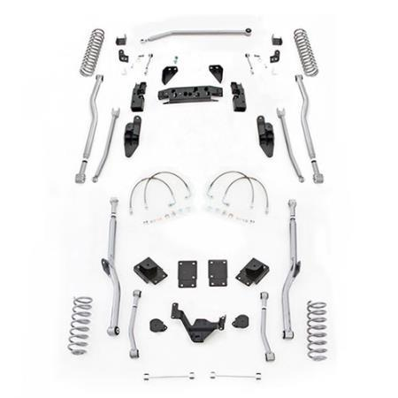 Rubicon 3.5 Inch JK Lift Kit Extreme Duty Long Arm 4 Link Rear 07-18 JKU 4 Dr JK4R43-Long Arm Lift Kits-Rubicon Express-Get Lift Kits