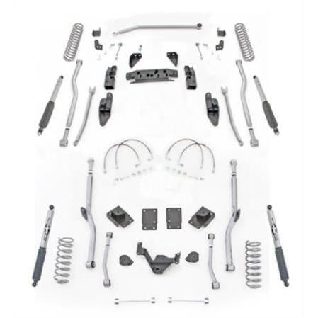 Rubicon 3.5 Inch JK Lift Kit Extreme Duty Long Arm 4 Link Rear 07-18 JKU 4 Dr JK4R43M-Long Arm Lift Kits-Rubicon Express-Get Lift Kits