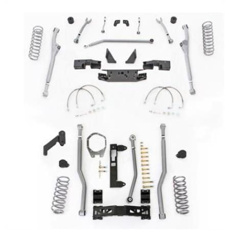 Rubicon 3.5 Inch JK Lift Kit Extreme Duty Long Arm Radius Front 3 Link Rear 07-18 JKU 4 Dr JKR343-Long Arm Lift Kits-Rubicon Express-Get Lift Kits