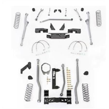 Rubicon 3.5 Inch JK Lift Kit Extreme Duty Long Arm Radius Front 3 Link Rear 07-18 JKU 4 Dr JKR343M-Long Arm Lift Kits-Rubicon Express-Get Lift Kits