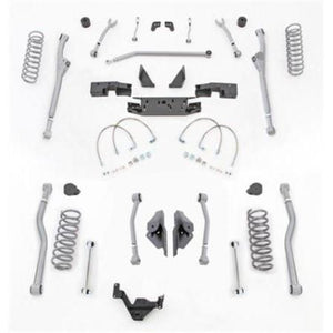 Rubicon 3.5 Inch JK Lift Kit Extreme Duty Long Arm Radius Front 4 Link Rear 07-18 JKU 4 Dr JKR443-Long Arm Lift Kits-Rubicon Express-Get Lift Kits