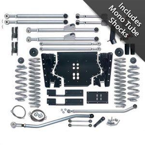 Rubicon 3.5 Inch TJ Lift Kit Extreme Duty Long Arm W/Mono Tube Shocks 97-02 TJ RE7203M-Long Arm Lift Kits-Rubicon Express-Get Lift Kits