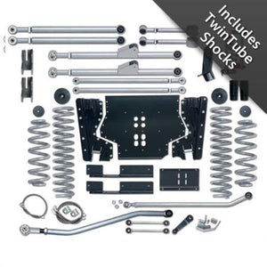 Rubicon 3.5 Inch TJ Lift Kit Extreme Duty Long Arm W/Twin Tube Shocks 97-02 TJ RE7203T-Long Arm Lift Kits-Rubicon Express-Get Lift Kits