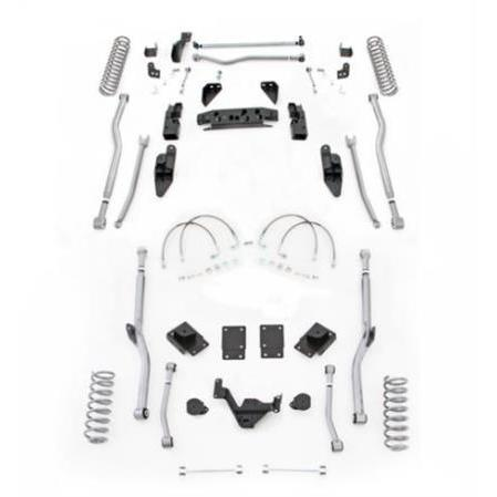 Rubicon 4.5 Inch JK Lift Kit Extreme Duty Long Arm 4 Link Front 4 Link Rear 07-18 JK 2Dr JK4R24-Long Arm Lift Kits-Rubicon Express-Get Lift Kits