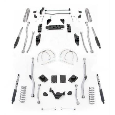 Rubicon 4.5 Inch JK Lift Kit Extreme Duty Long Arm 4 Link Front 4 Link Rear 07-18 JK 2Dr JK4R24M-Long Arm Lift Kits-Rubicon Express-Get Lift Kits