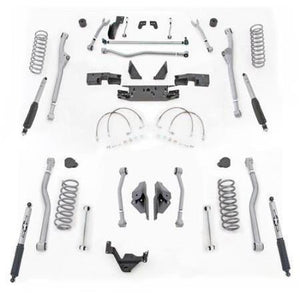 Rubicon 4.5 Inch JK Lift Kit Extreme Duty Long Arm Radius Front 4 Link Rear 07-18 JK 2Dr JKR424M-Long Arm Lift Kits-Rubicon Express-Get Lift Kits
