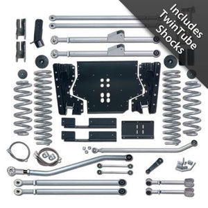 Rubicon 4.5 Inch LJ Lift Kit Extreme Duty Long Arm W/Twin Tube Shocks 04-06 LJ RE7224T-Long Arm Lift Kits-Rubicon Express-Get Lift Kits