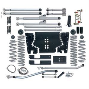 Rubicon 5.5 Inch TJ Lift Kit Extreme Duty Long Arm W/Rear Track Bar 03-06 TJ RE7215M-Long Arm Lift Kits-Rubicon Express-Get Lift Kits
