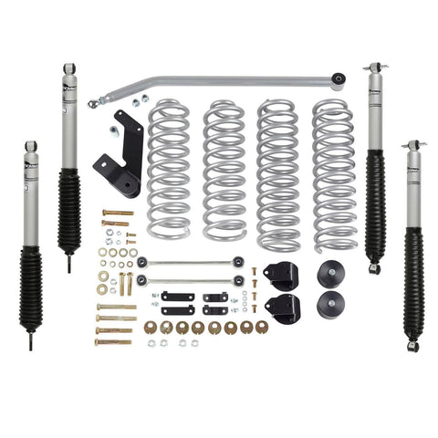 Rubicon JK Lift Kit Standard 3.5 Inch W/Mono Tube Shocks 07-18 JKU 4 Dr RE7142M-Lift Kits-Rubicon Express-Get Lift Kits