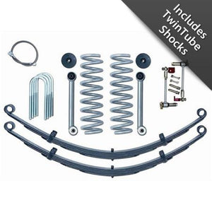 Rubicon XJ Lift Kit 3.5 Inch Super Flex W/Twin Tube Shocks Rear Leaf 84-01  XJ  RE6030T