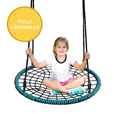 Play Platoon Spider Web & Flying Saucer Tree Swings - Fully Assembled, Easy to Instal