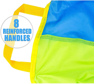 6 Foot Play Parachute with 8 Handles - Multicolored Parachute for Kids