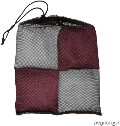 Corn Filled Cornhole Bags - Set of 8 Bean Bags for Corn Hole Game - Regulation Size & Weight - Burgundy & Gray