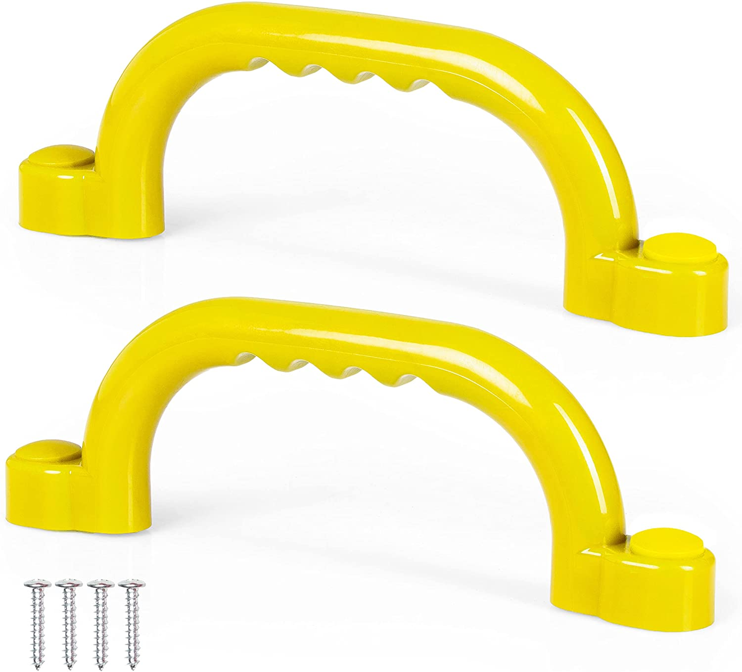 Playground Safety Handles, 2 Pack , Yellow Grab Handle Bars for Jungle Gym