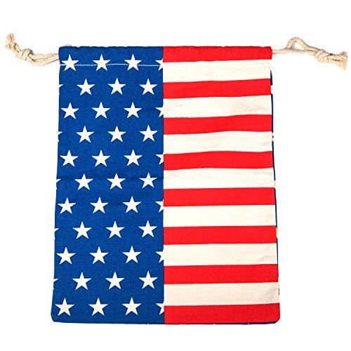 Play Platoon Cornhole Bag Holder, American Flag - Stars & Stripes Patriotic Tote Bag for Carrying Corn Hole Bean Bags