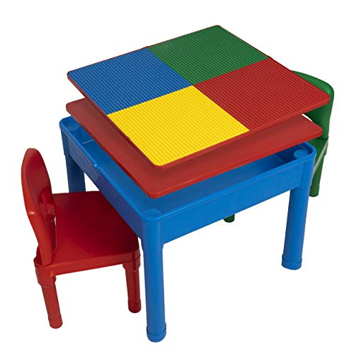 Play Platoon Kids Activity Table Set - Building Block Table, Craft Table and Sensory Table with Storage - Multiple Colors and Sizes