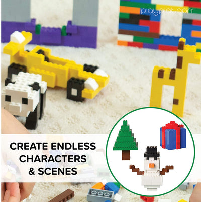 6 Pounds of Assorted Building Bricks - 2,000+ Classic & Pastel Color Brick Pieces Kit - Compatible with All Major Brands