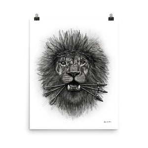 Lion Drawing Poster