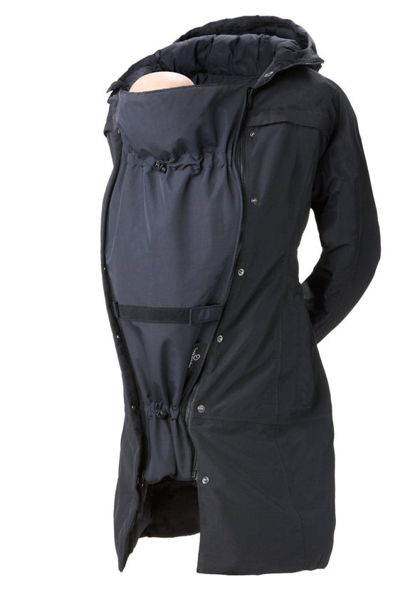 Maternity Coat Extender - Baby Carrying - Deluxe Black