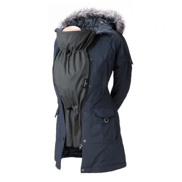 Babywearing Coat Extension - Pregnancy - Black