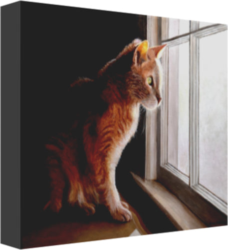 Purrfect View Canvas Prints
