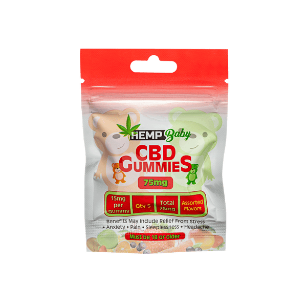 CBD Original  Gummies 5ct pouch - HempBaby