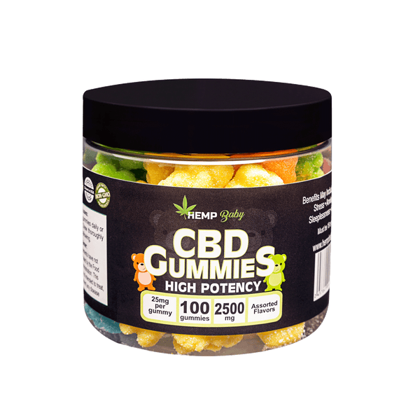 CBD High Potency Gummies 100ct - HempBaby