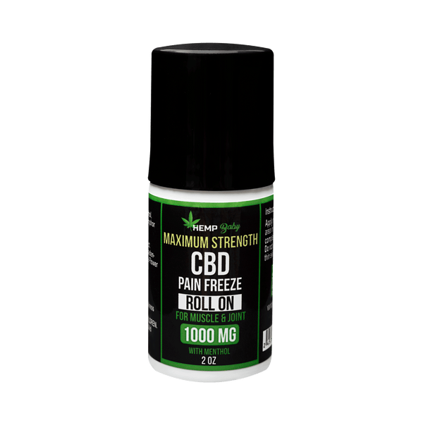 CBD Pain Freeze Roll On 1000mg - HempBaby
