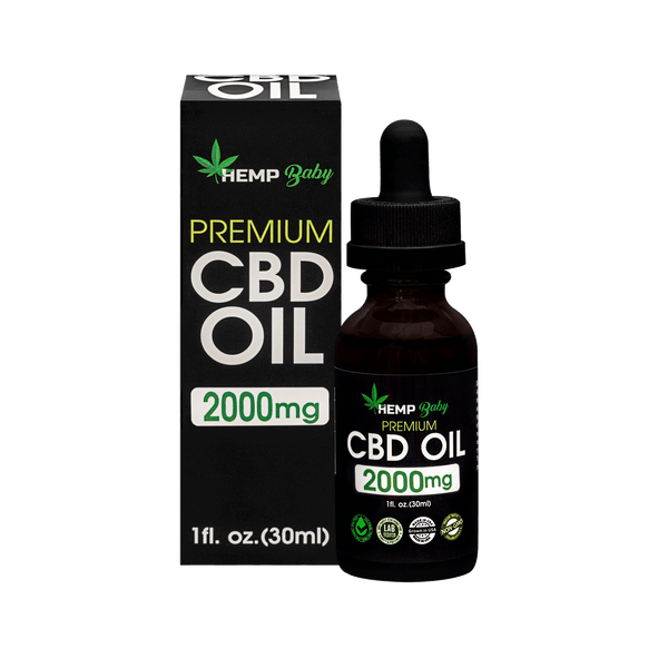CBD Oil 2000mg - HempBaby