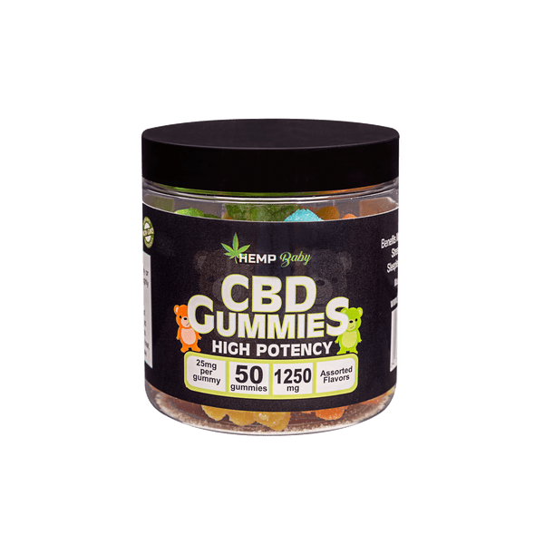 CBD High Potency Gummies 50ct - HempBaby