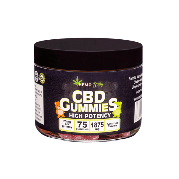 CBD High Potency Gummies 75ct - HempBaby
