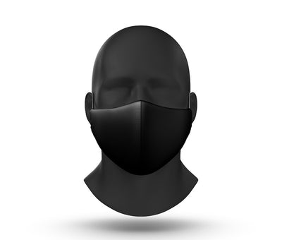 black facemask front view