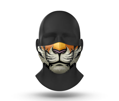 tiger facemask front view